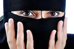 Asiatische arabische moslemische Frau lizenzfreie stockfotos