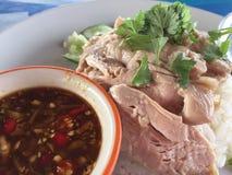 Asiatische Art Hainan-Huhnreisnahaufnahme Lizenzfreie Stockbilder