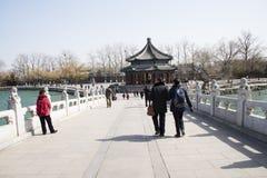 Asiatische Chinesen, Peking, der Sommer-Palast, lang ru tönen Stockbild