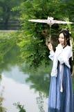 Asiatische Chinesin in traditioneller Hanfu-dressï ¼ Œclassic-Schönheit in Chin Stockbilder