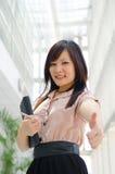 Asiatische chinesische Studentin im Porträt der formellen Kleidung A von einem Asi Lizenzfreie Stockbilder