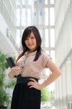 Asiatische chinesische Studentin im Porträt der formellen Kleidung A von einem Asi Stockfoto
