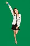 Asiatische Damenshowangestelltkarte stockfotografie