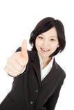 Asiatische Daumen der jungen Frau oben Lizenzfreie Stockbilder