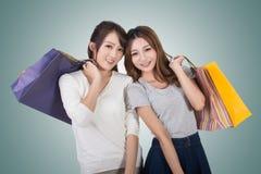 Asiatische Einkaufenfrau lizenzfreies stockfoto