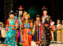 Asiatische Erwachsen- und Kindbaumuster Lizenzfreie Stockbilder
