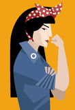 Asiatische feministische Frau vektor abbildung