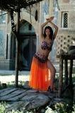Asiatische Frau im nationalen Kleid Lizenzfreies Stockfoto