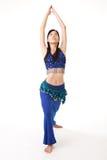 Asiatische Frau mit Yoga Lizenzfreie Stockfotos