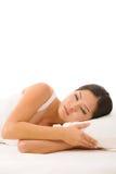 Asiatische Frau schlafend Lizenzfreies Stockbild