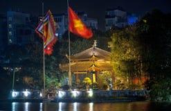 Asiatische Gazebo-Nachtansicht Stockbilder