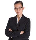 Asiatische Geschäftsfrau In Dark Suit III Stockfotos