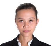 Asiatische Geschäftsfrau In Dark Suit V Lizenzfreies Stockfoto