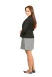 Asiatische Geschäftsfrau hinten über Schulter voll Lizenzfreies Stockbild