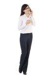 Asiatische Geschäftsfrau mit Mobiltelefon Stockfoto