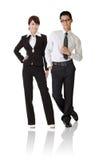 Asiatische Geschäftsfrau und Mann lizenzfreies stockbild