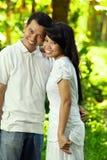 Asiatische glückliche Paare lizenzfreie stockbilder