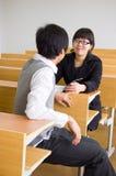Asiatische Hochschulstudenten lizenzfreie stockfotografie