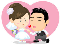 Asiatische Hochzeitspaare Stockfotos