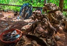Asiatische Holzarbeit stockfotografie