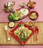 Asiatische Huhn-Aufsteckspindeln Lizenzfreie Stockfotos