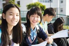 Asiatische Jugend-StudentsÂ-Studie in der Schule stockfotografie
