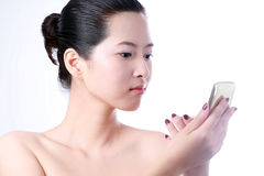 Asiatische junge Frau Stockfotografie