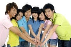 Asiatische junge Kursteilnehmer stockfotografie