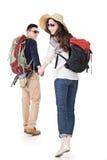 Asiatische junge reisende Paare Lizenzfreie Stockfotos