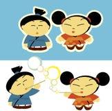 Asiatische Kinder lizenzfreie abbildung