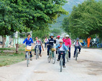 Asiatische Kinder, vietnamesischer Landschaftsschüler Lizenzfreies Stockbild