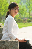 Asiatische Kursteilnehmer lizenzfreies stockfoto