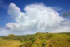 Asiatische Landschaft mit cloudscape Lizenzfreie Stockbilder