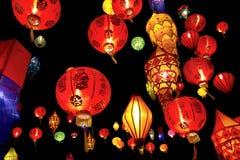 Asiatische Laternen Stockfotografie