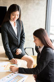 Asiatische Leute in der Sitzung Lizenzfreies Stockbild