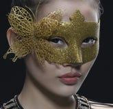 Asiatische Mädchen-Maske Lizenzfreies Stockfoto