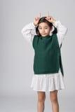 Asiatische Mädchenatelieraufnahme Stockbilder