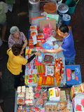 Asiatische Marktszene stockfoto