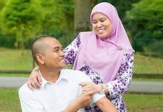 Asiatische moslemische Paare Lizenzfreies Stockfoto