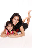 Asiatische Mutter und Tochter Lizenzfreies Stockfoto