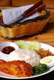 Asiatische Nahrung-Nasi Lemak Stockfoto