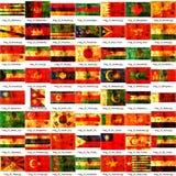 Asiatische Nationmarkierungsfahnen Lizenzfreie Stockbilder