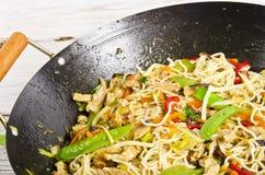 Asiatische Nudeln mit Fleisch stockfoto