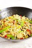 Asiatische Nudeln mit Fleisch stockfotografie