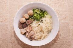 Asiatische Nudelsuppe Lizenzfreies Stockbild