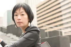 Asiatische reife Frau Lizenzfreies Stockbild