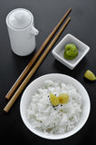 Asiatische Reisschale Stockfotos