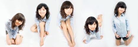 Asiatische Schönheit-Serie Lizenzfreies Stockfoto