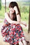 Asiatische Schönheit im Freien Lizenzfreie Stockfotos
