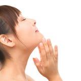 Asiatische skincare Frau Lizenzfreies Stockfoto